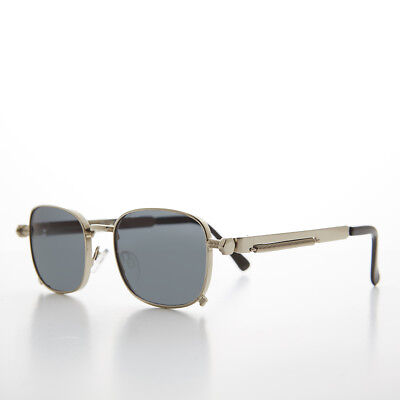 Tailored Silver Sunglass with Industrial Temples and Gray Lens - (Tyga Sunglasses)