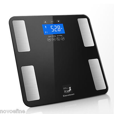 Digital LCD Electronic Body Fat Bathroom Scales Weighing BMI Health Analyser UK