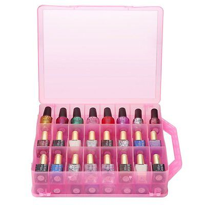 Organizer Nail Polish Holder Display Container Case Storage 48 Bottles DIY Salon