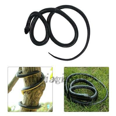 130cm Realistic Rubber Snake Toy Garden Props Joke Prank Gifts Wild Reptile NEW](Snake Props)