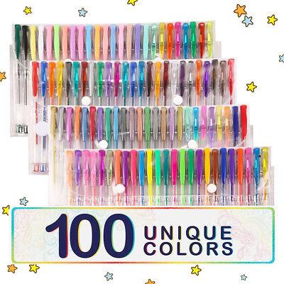 Professionell 100 Gel Stift Buch Zeichnung Glitzer Neon ()
