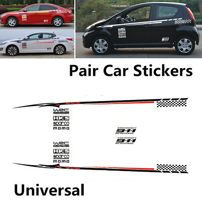 Fashion Cool 2Pcs BK Material Car Door Body Styling Vinyl Decal Graphics Sticker