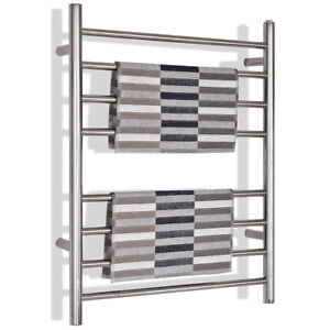 Towel Warmer Drying Rack Wall Mount Stainless Steel Polished Bathroom Home Decor