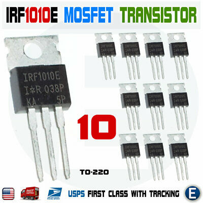 10pcs Irf1010e Irf1010 60v 84a Single N-channel Hexfet Power Mosfet To-220 Usa