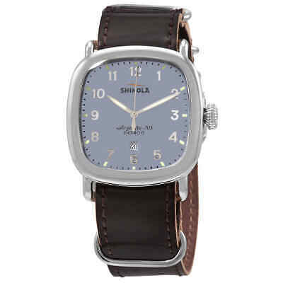 Shinola Guardian Quartz Blue Dial Brown Leather Men's Watch 20029581