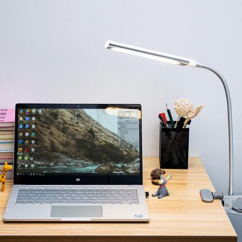 Dimmable LED Light Flexible USB 48 LED Clip-On Desk Table Re