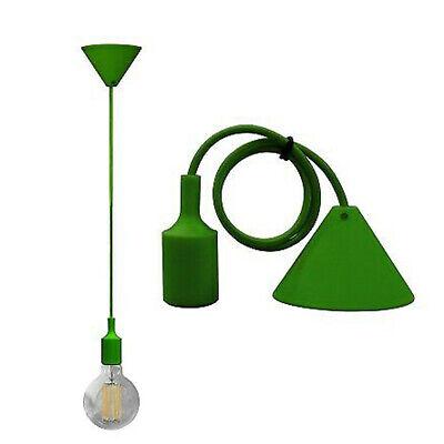 Portalámparas A Colgante Lámpara de Araña Techo De E27 Verde DT-J02