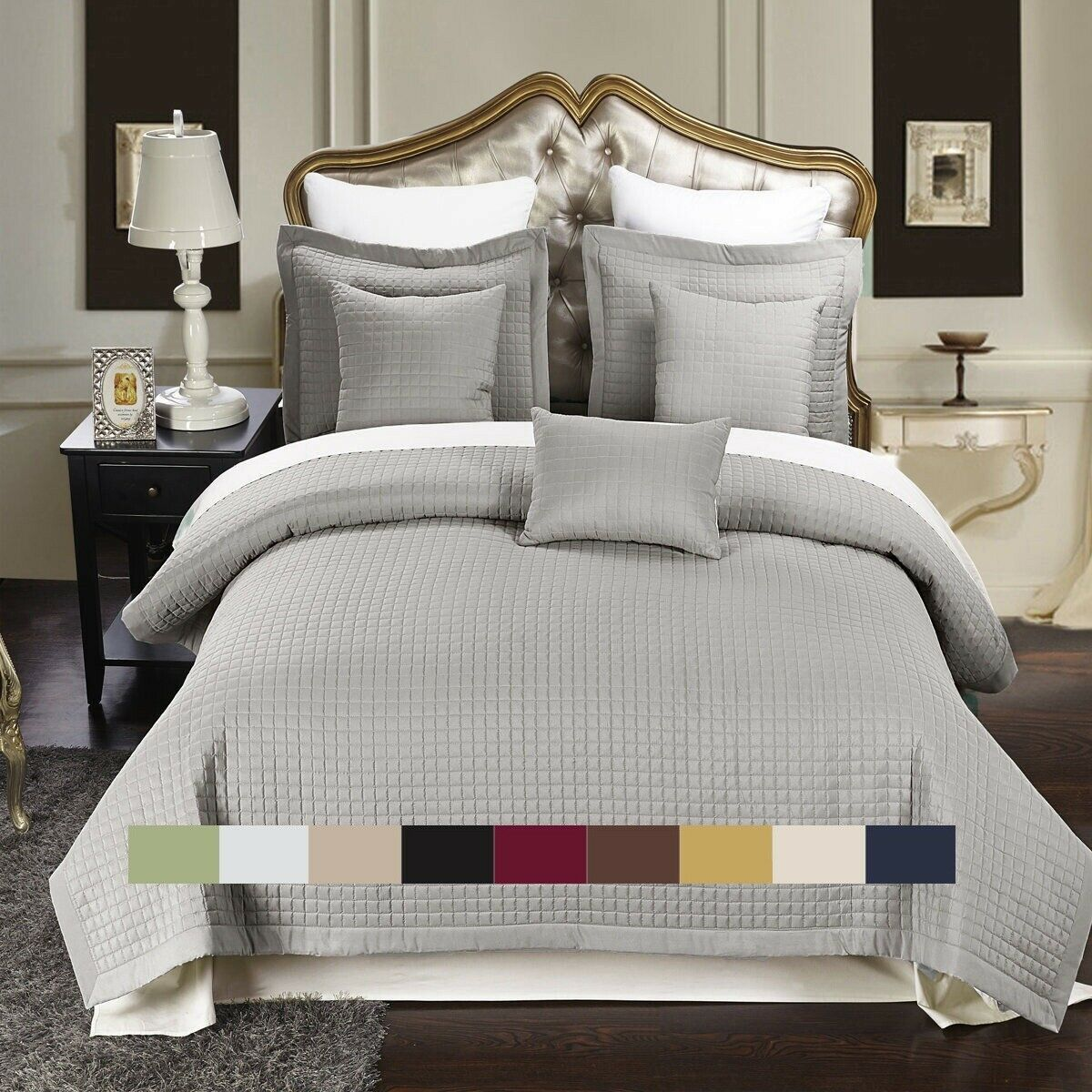 luxury checkered quilted wrinkle free coverlets bedspread