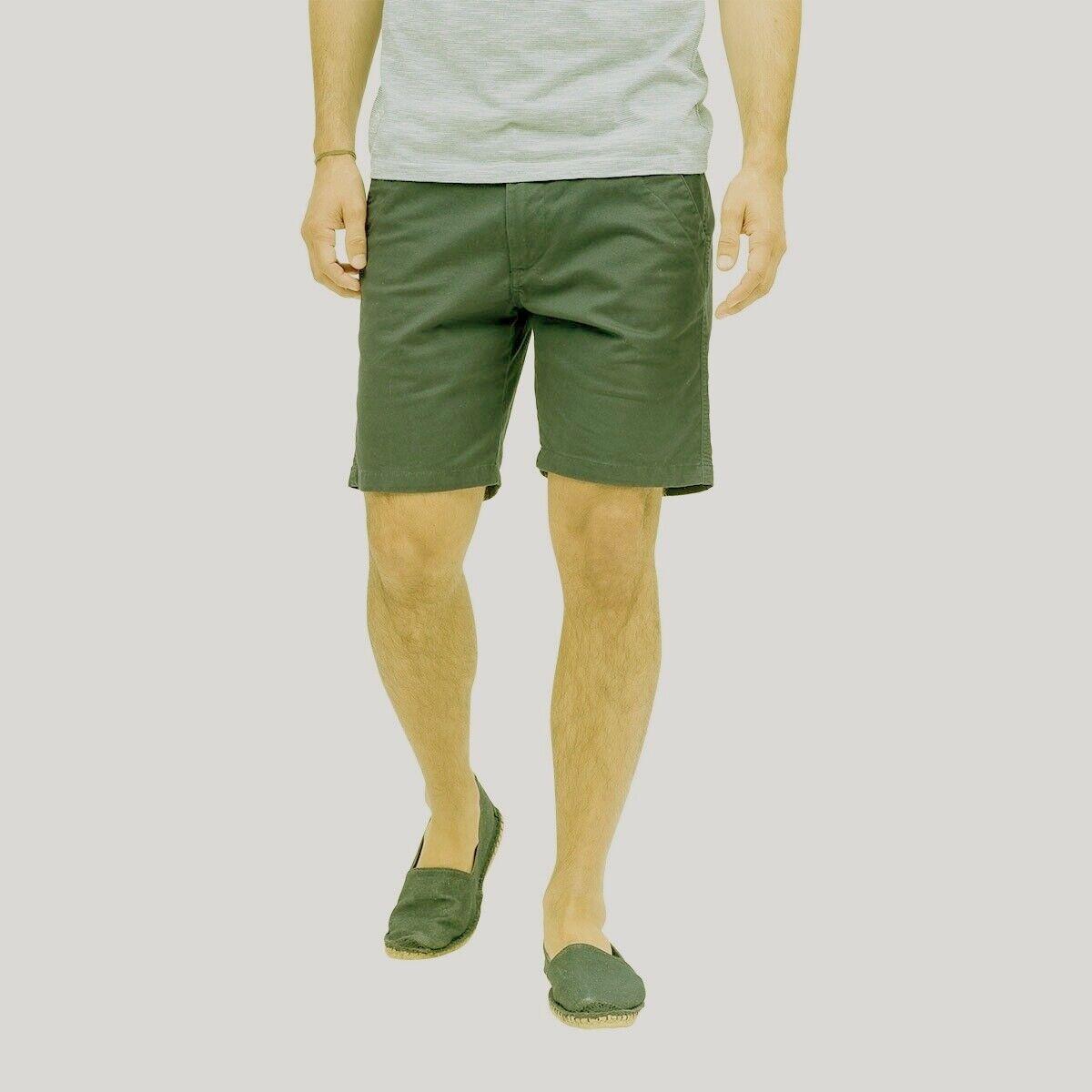 Pantalon short oxbow vert kaki l 42