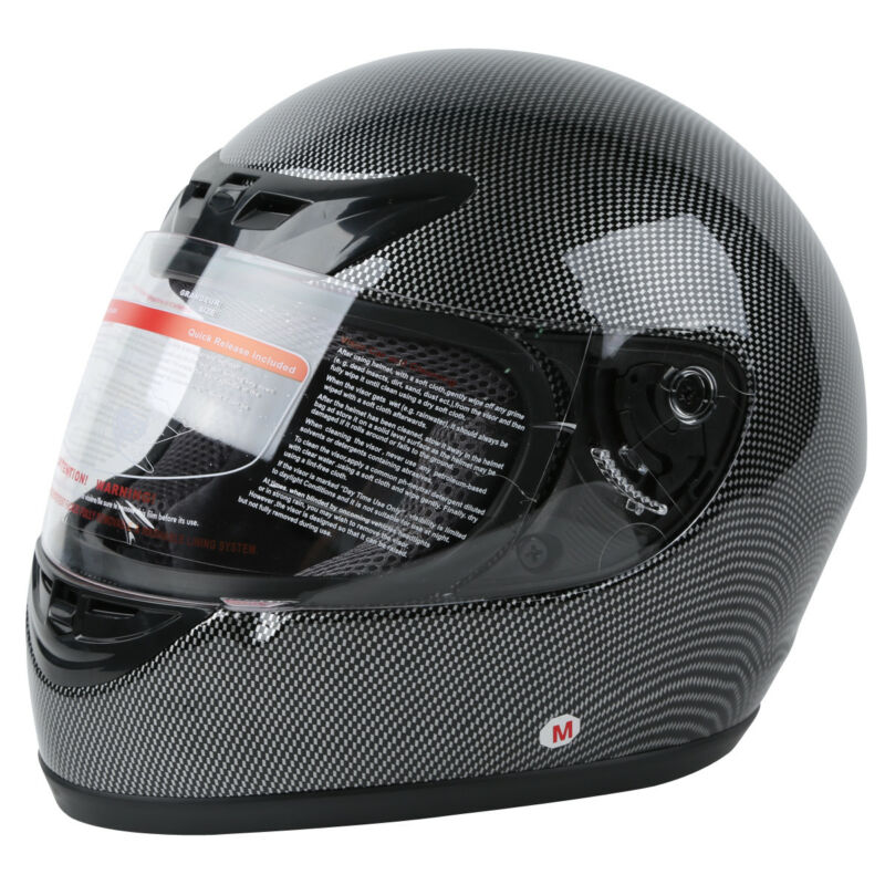 DOT Carbon Fiber Flip Up Full Face Motorcycle Helmet Street S M L XL XXL TCMT