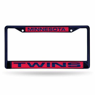 Minnesota Twins MLB Navy Painted Metal Laser Cut License Plate Frame Minnesota Twins Laser