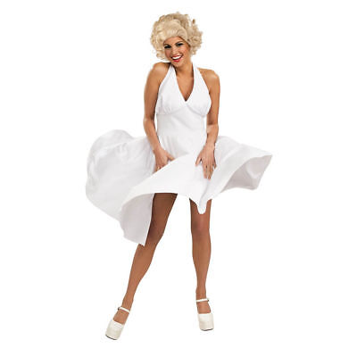 Adult Marilyn Monroe White 50s Hollywood Starlet Halloween Costume INCLUDES WIG  (Marilyn Halloween Kostüme)