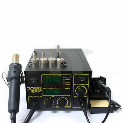 2 In 1 Soldering Rework Stations Smd Hot Air Iron Desoldering Welder 750w