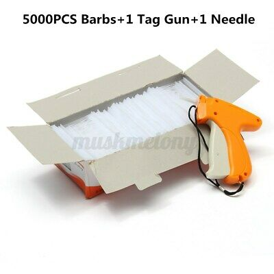 Clothes Garment Price Tag Label Tagging Gun Machine Kit With 5000 Barbs Neddle