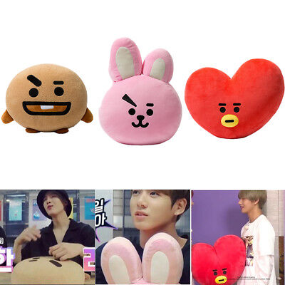 For KPOP BTS BT21 TATA SHOOKY RJ SUGA COOKY JIMIN Bed Plush Pillow Doll Cushion