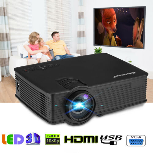 1080P Full HD Smart 3D LED Projector Home Theater 7000 Lumen HDMI USB for DVD PC