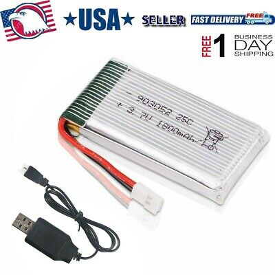 3.7V 25C 1800mah Lipo Battery XH2.54 Stuff W USB Charger for RC Quadcopter Drone