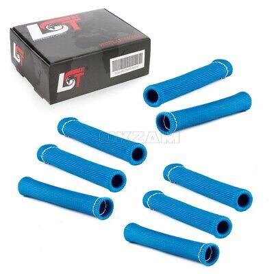 8x Fibra de Vidrio Protección contra el Calor Tubo Cable Bujía Azul...