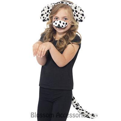 A760 Dalmation Dog Animal Girls Boys World Book Day Week Fancy Dress Costume Kit