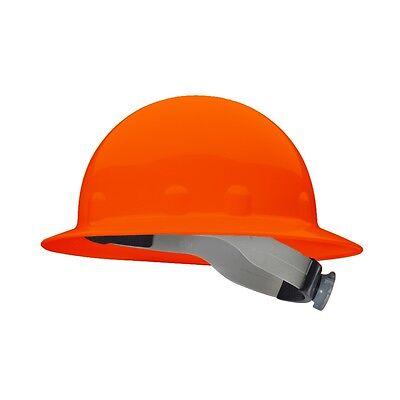 Fibre-metal Full Brim Hard Hat With 8 Point Ratchet Suspension Hi-vis Orange
