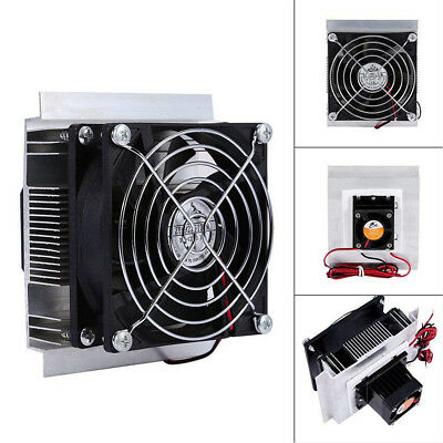 1X 12V 6A 60W Thermoelectric Peltier Refrigeration Cooling System Kit Cooler Fan ()