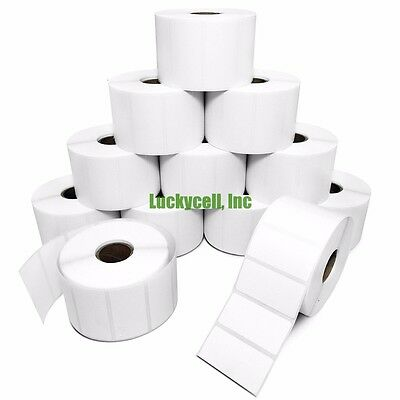 9 Rolls 2x1 Direct Thermal Labels - 1300pr For Zebra Lp2824 Lp2422 Lp2844 Zp450