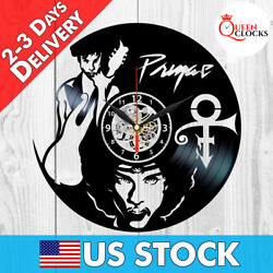 Prince Sign Vinyl Record Wall Clock Singer Art Music Decor Merchandise Best Gift