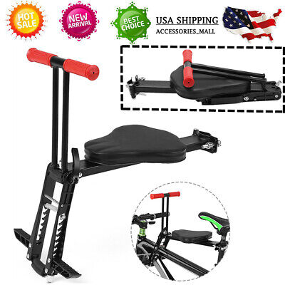 Kids Bicycle Seat Baby Bike Saddle Fold Safety Front Chair Mount Carrier US E9Q3
