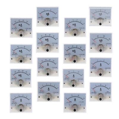 Meter Milliammeter 16 Range Dc Analog Amp Meter Ammeter Current Panel Ampere