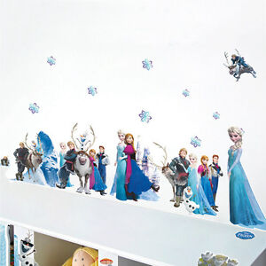 DIY Frozen Elsa Anna Mural Art Decal Removable Kids Room Wall Stickers Xmas Gift
