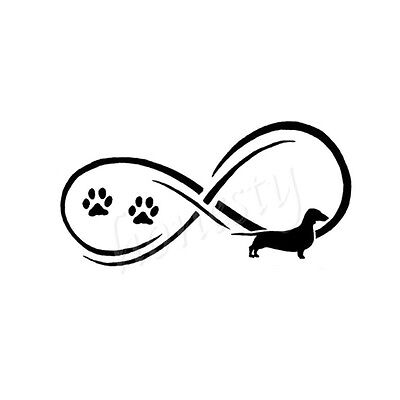 Dachshund Dog Window Door Car Sticker Laptop Truck Black Vinyl Decal Sticker
