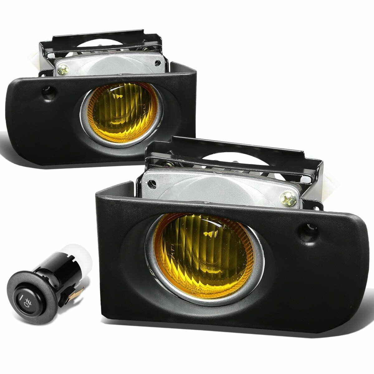 1994-1997 Acura Integra Yellow Bumper Fog Lights Driving
