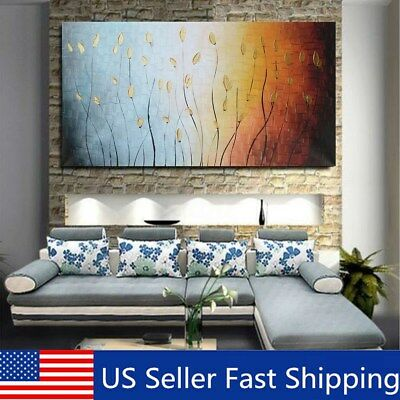 Abstract Art Painting Canvas Print Peacock Tree Picture Wall Home Decor No Frame
