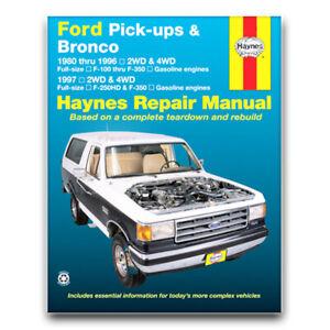 Haynes Repair Manual For 1980 1996 Ford F 150 Shop