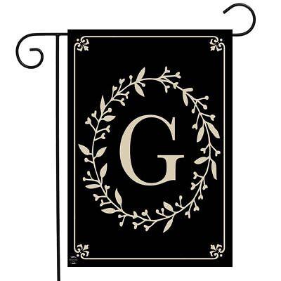 Briarwood Lane Classic Monogram Letter G Garden Flag Everyda