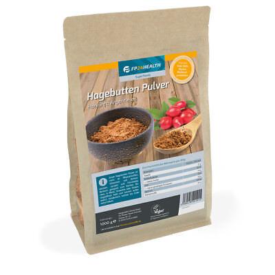 FP24 Health Hagebuttenpulver 1kg - Zippbeutel - Hagebutten - Top Qualität