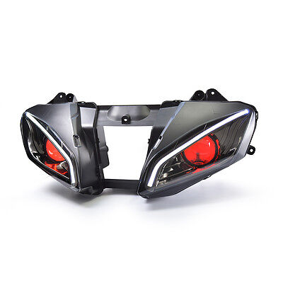 KT LED  Headlight Assembly for Yamaha YZF R6 2006 2007 Red