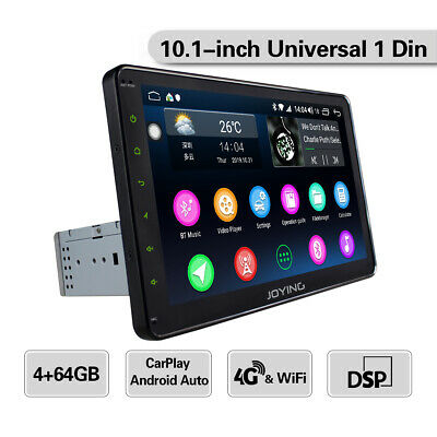 JOYING 10.1 Inch IPS Big Touch Screen I Din Car Stereo GPS Navigation 64GB ROM