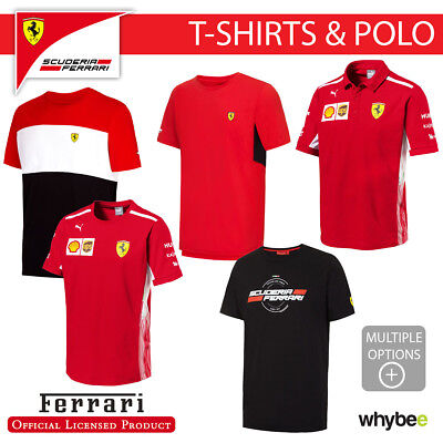 Ferrari F1 Formula One Team Mens T-Shirt & Polo Shirt Official Full Range