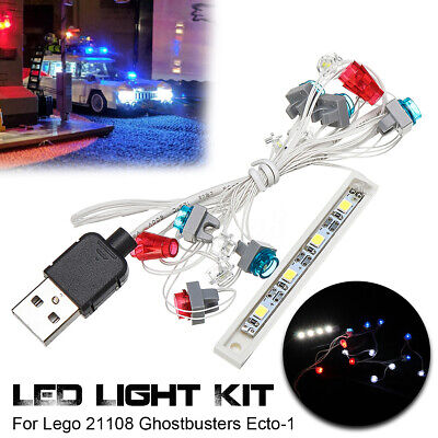 Licht LED Beleuchtungs Set nur Für Lego 21108 Ghostbusters Ecto-1 USB Lighting  (Usb Lego)