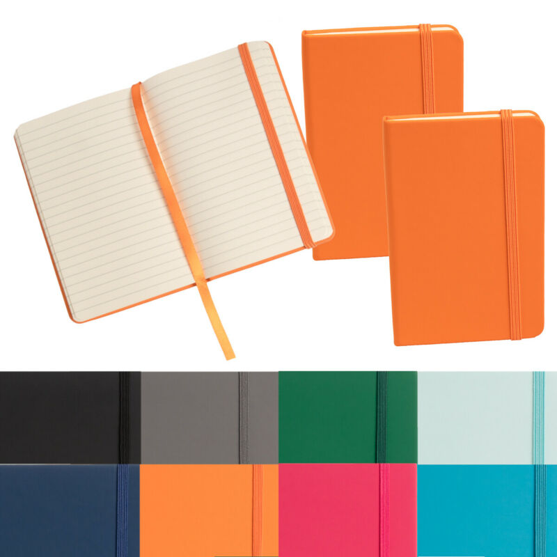 "3pk Simply Genius Leatherette A6 Journal 3.7""x5.7"" Writing Notebook Lined Paper"