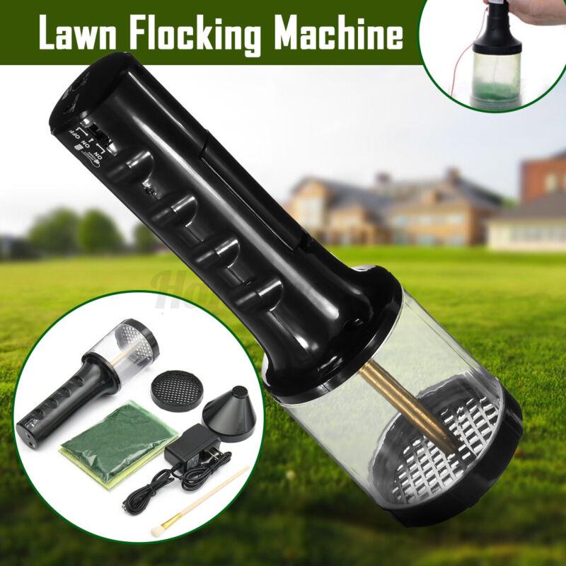 Rechargeable Flocking Machine Electrostatic Grass Carpet Applicator Crafts