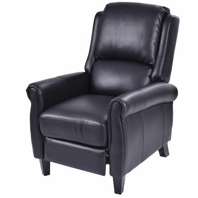 leather recliner accent chair push back living