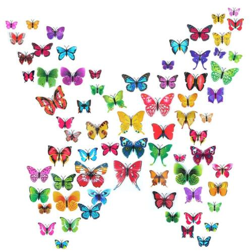 Home Decoration - 72pcs 3D Butterfly Wall Stickers Home Kids Living Room Decor Magnetic Removable