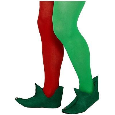 Elf Boots Adult or Teen Green Medieval Jester Shoes Christmas Costume Accessory - Costume Boot