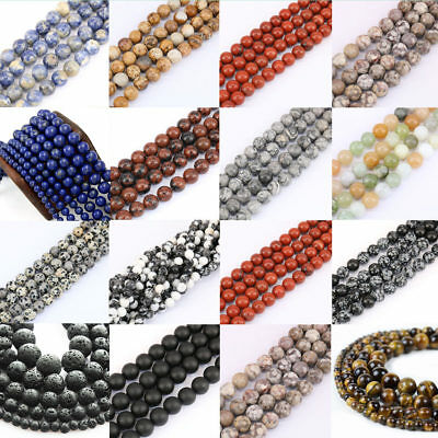 4mm 6mm 8mm 10mm Wholesale Natural Stone Spacer Making Loose Bead Bracelets Gift