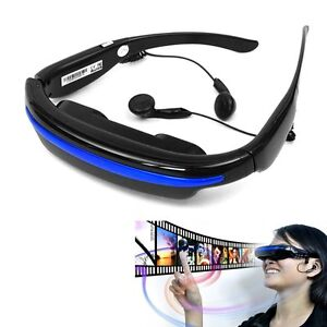 Wide Screen HD MP3 3D Stereo Virtual Video Glasses  Mobile Theater 4G 52