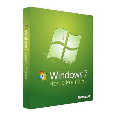 7 Betriebssystem (Microsoft Windows 7 Home Premium OEM 32/64 Bit Win Original Key GENUINE)