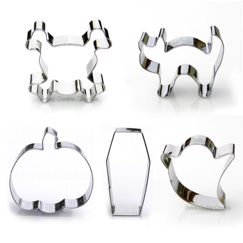 Halloween Cookie Cutter Set, 5 Piece, Stainless Steel