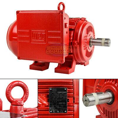 3 Hp Electric Motor W184t Frame 1740 Rpm Single Phase Tefc Farm Duty Weg